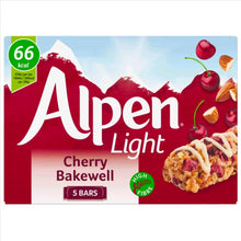 Load image into Gallery viewer, Alpen Light Cherry Bakewell Bars (Pack of 5 bars)