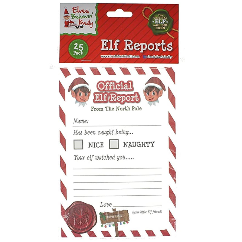 Official Elf Report Cards Pack of 25