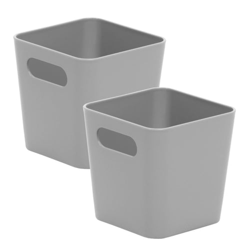 Storage Basket Square Cool Grey 1.01 (Pack of 2)