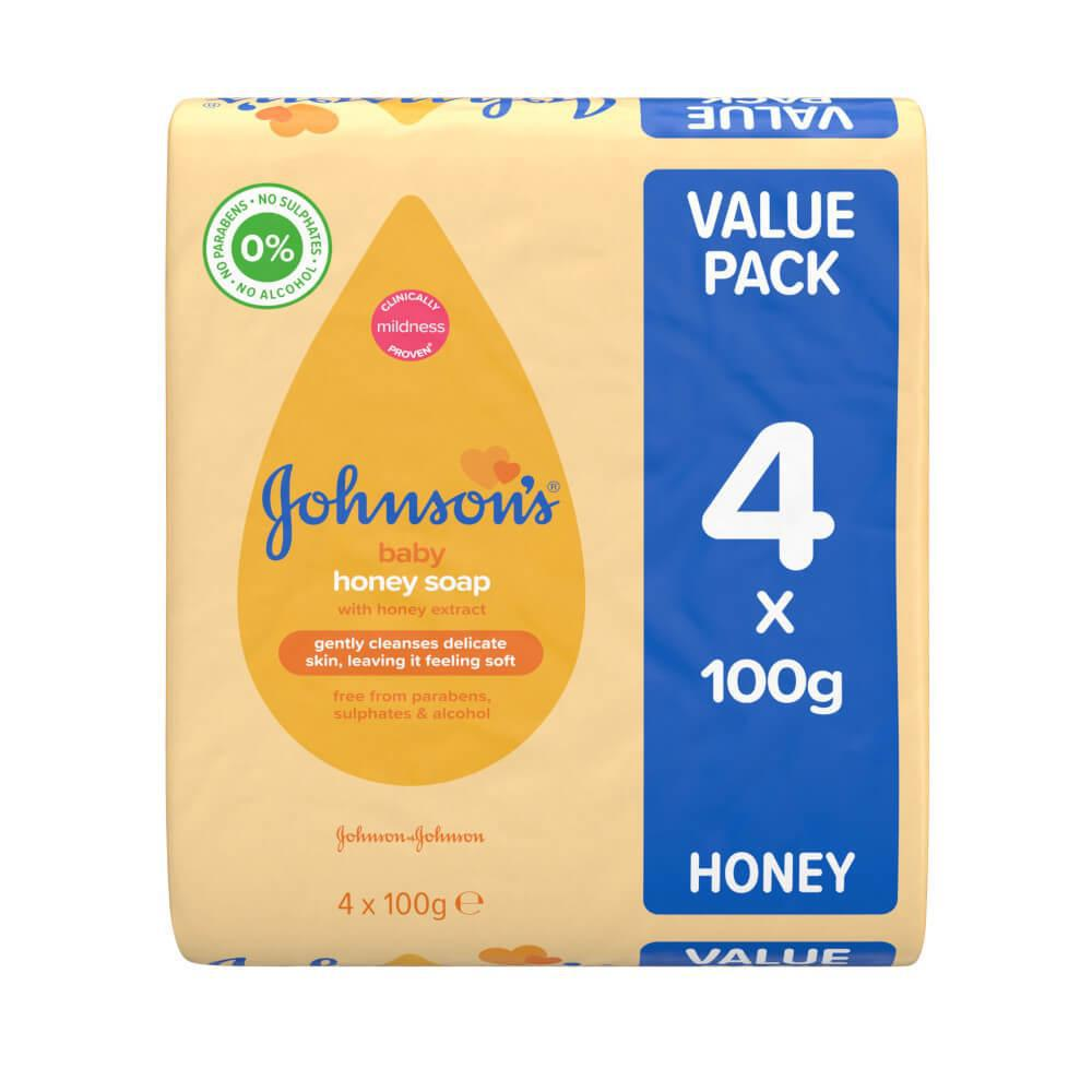 Johnson's Baby Soap Honey (Pack of 4)