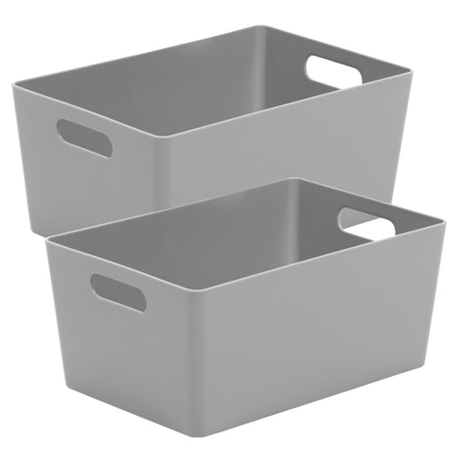 Storage Basket Rectangular Cool Grey 4.02 (Pack of 2)