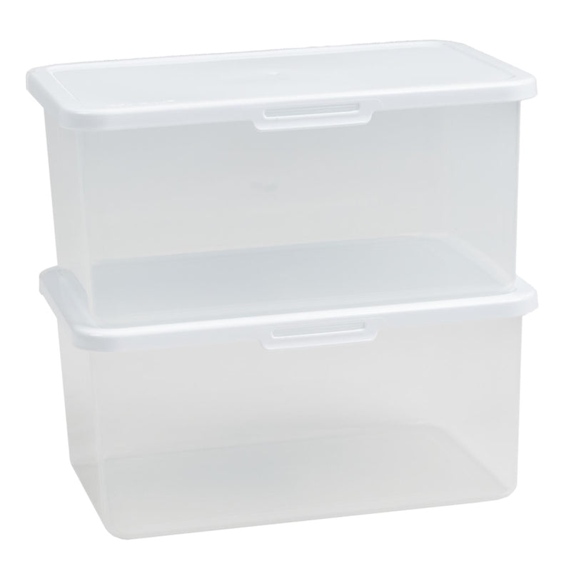Food Locker 4.2L Rectangular Clear/White 8.02 (Pack of 2)