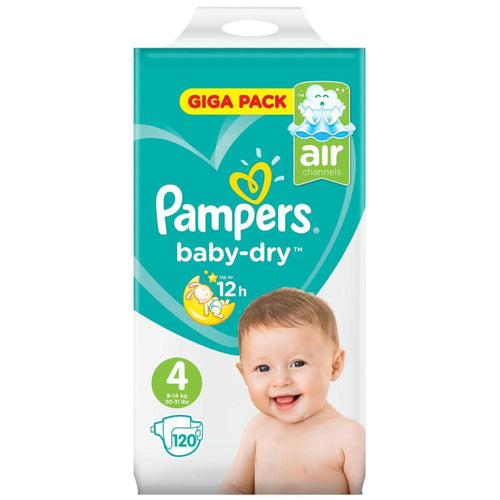 Pampers Baby-Dry Nappies Size 4 - 120 Giga Pack