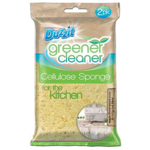 Duzzit Greener Cleaner Cellulose Sponge 2s