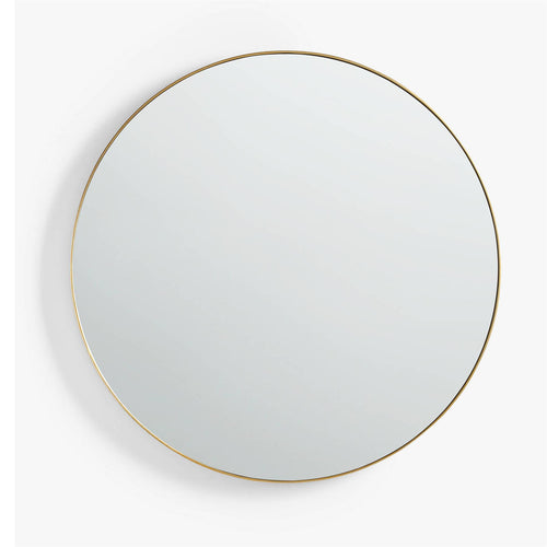 Gold Round Retro Mirror (50cm x 50cm)
