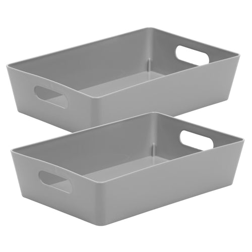 Storage Basket Rectangular Cool Grey 4.01 (Pack of 2)