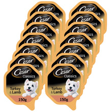 Load image into Gallery viewer, Cesar Dog Turkey & Lamb Tray 150g (Pack of 14)
