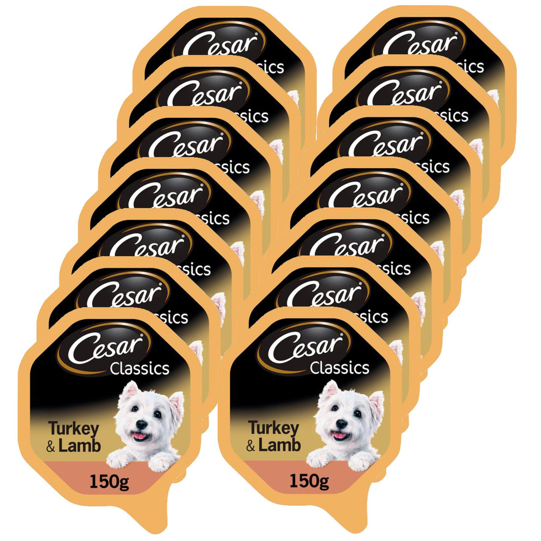 Cesar Dog Turkey & Lamb Tray 150g (Pack of 14)
