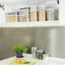 Load image into Gallery viewer, Cereal Dispenser Food Locker Clear/White 5Ltr 12.02 (Pack of 2)