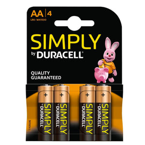 Duracell Batteries AA 4pk