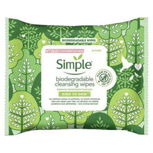 Load image into Gallery viewer, Simple Biodegradable Cleansing Facial Wipes 20s