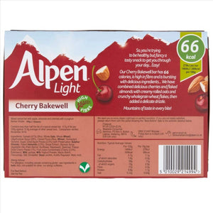 Alpen Light Cherry Bakewell Bars (Pack of 5 bars)
