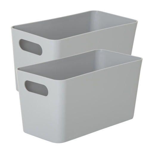Storage Basket Rectangular Cool Grey 6.01 (Pack of 2)