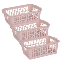 Load image into Gallery viewer, Pink Handy Storage Basket Medium (Pack of 3)