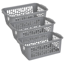 Load image into Gallery viewer, Grey Handy Storage Basket Medium  (Pack of 3)