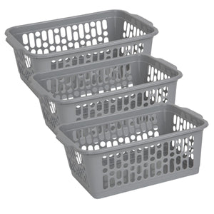 Grey Handy Storage Basket Medium  (Pack of 3)