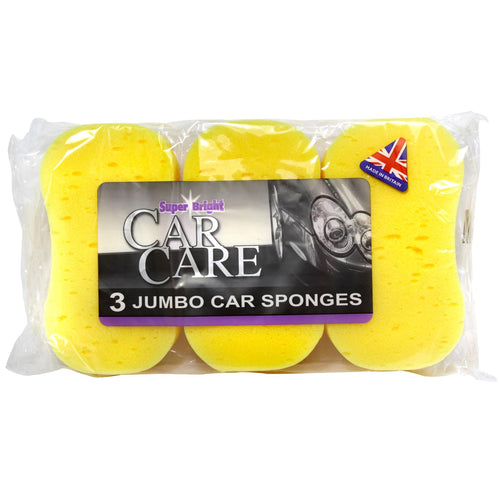 Car Care Jumbo Sponges (Pack of 3)