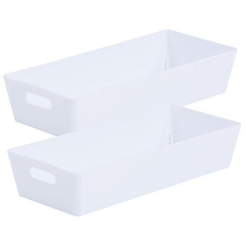 Storage Basket Rectangular White Ice 2.01 (Pack of 2)