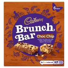 Load image into Gallery viewer, Cadbury's Choc Chip Brunch Bar (Pack of 6 bars)