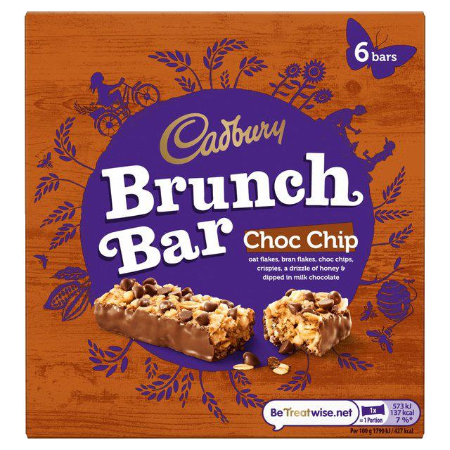 Cadbury's Choc Chip Brunch Bar (Pack of 6 bars)