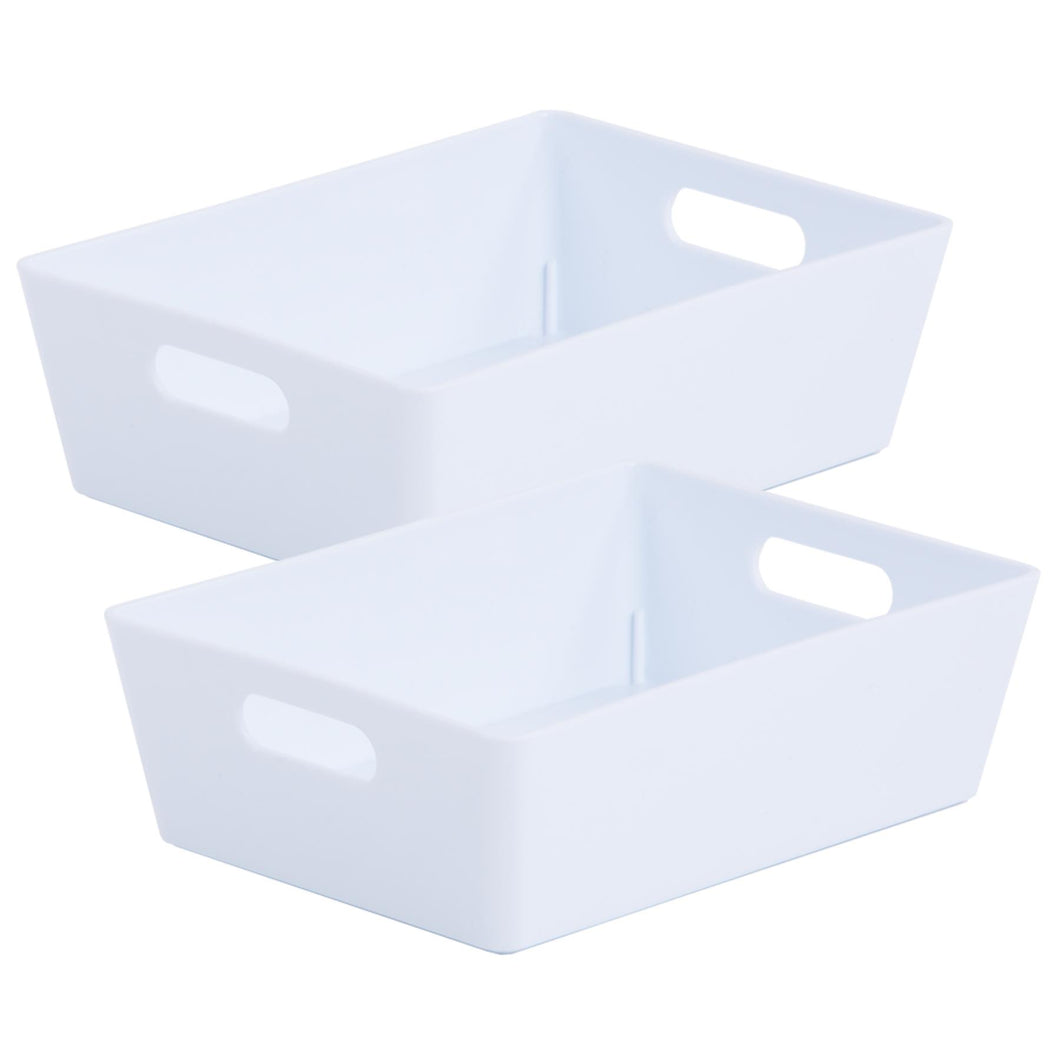 Storage Basket Rectangular White Ice 3.01