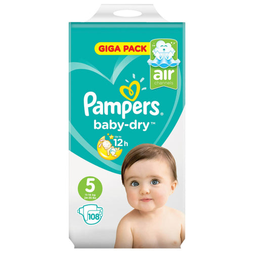 Pampers Baby-Dry Nappies Size 5 - 108 Giga Pack