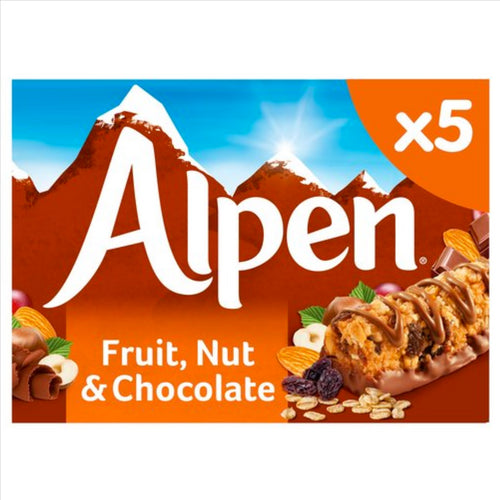 Alpen Fruit & Nut with Chocolate Bars (Pack of 5 bars)