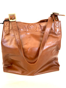 Leather Farmers Market Tote