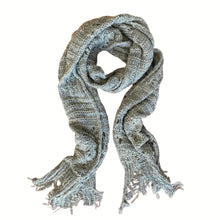 Load image into Gallery viewer, Knit Scallop Lace Scarf - Oatmeal