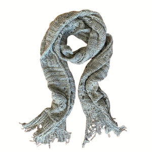 Knit Scallop Lace Scarf - Oatmeal