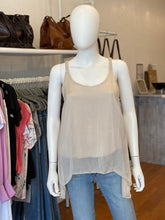 Load image into Gallery viewer, Pearl Silk Tank - Beige