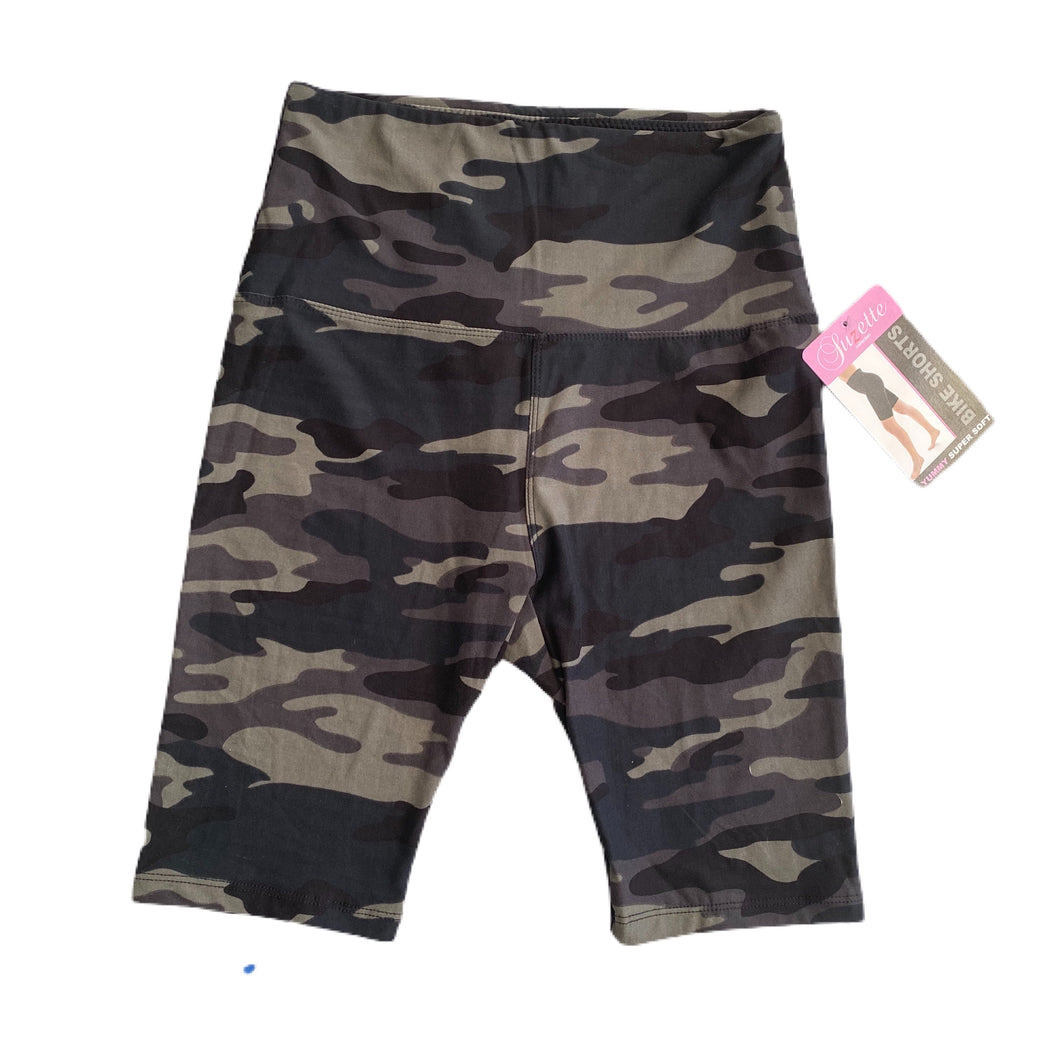 Camo Printed Bike Shorts