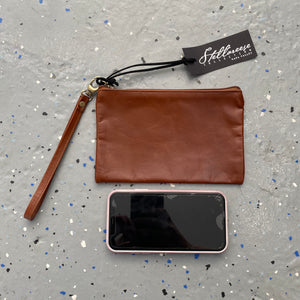 Whiskey Leather Wristlet