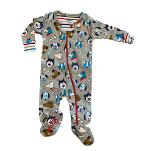 Cute Pups Organic Cotton Footed Coverall