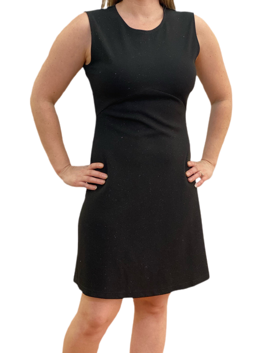 Black Sparkle Woven Dress