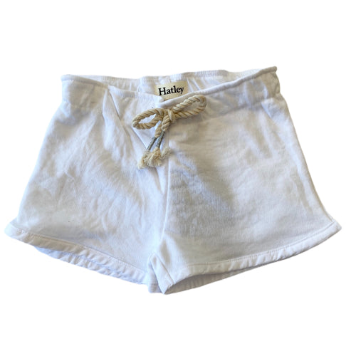 White French Terry Paper Bag Shorts