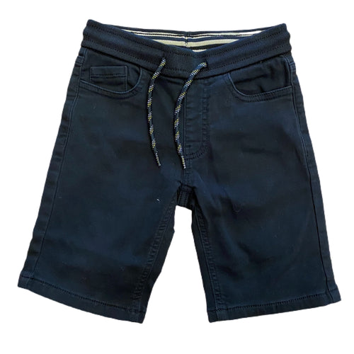Soft Denim Shorts - Black