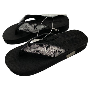 Palm Flip Flops- Black and Silver