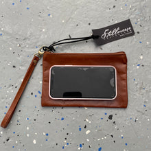 Load image into Gallery viewer, Whiskey Leather Wristlet