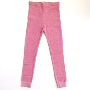 ROSE GLIMMER CABLE KNIT LEGGINGS