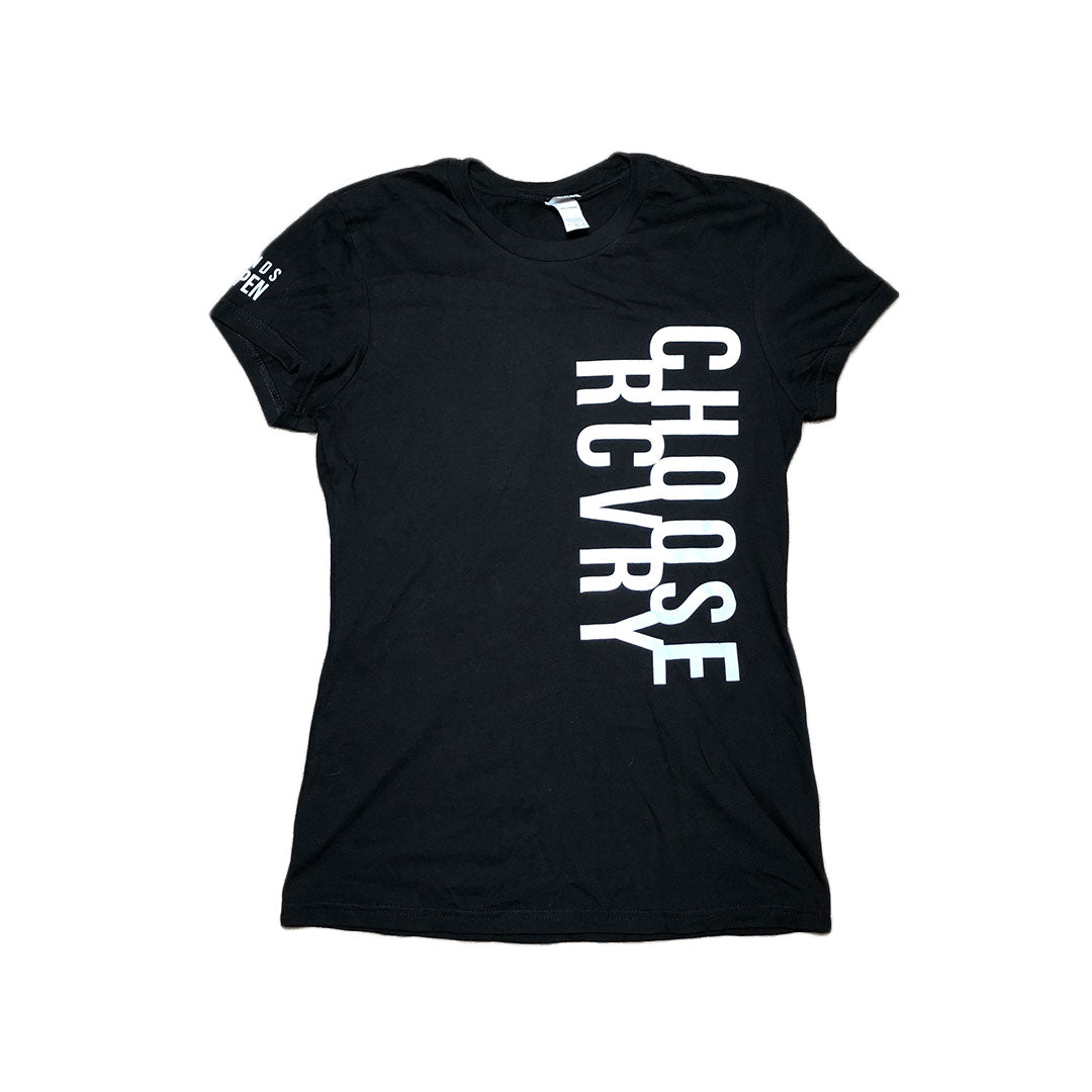 Choose RCVRY Women's T-Shirt BLACK
