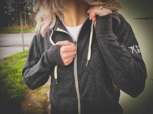 Choose RCVRY Zip-Up Hoodie Charcoal Unisex