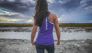 Violet Racerback Tank Top Choose RCVRY Never Give Up