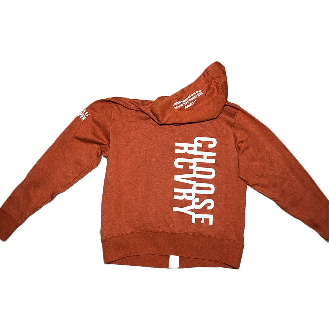 Choose RCVRY Zip-Up Hoodie ORANGE Unisex