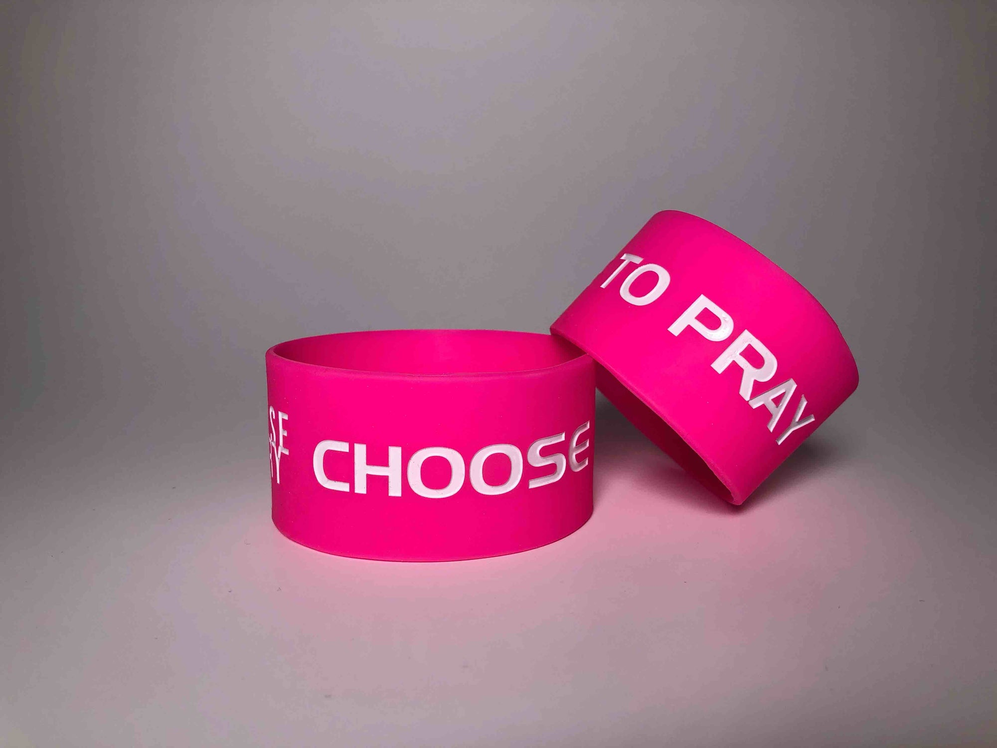 Choose to Pray Pink Wristbands