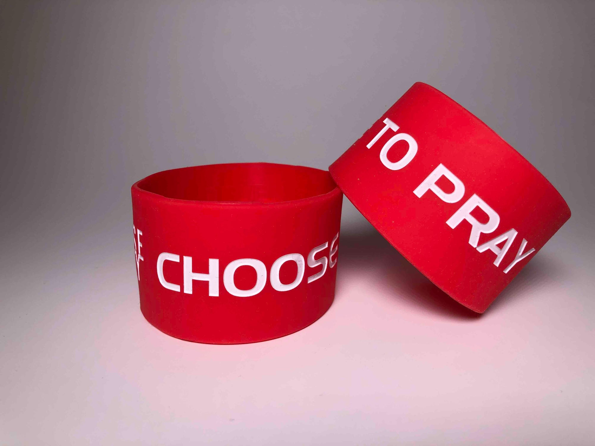 Choose to Pray Red Wristbands