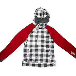 Red Gingham Double Hoodie