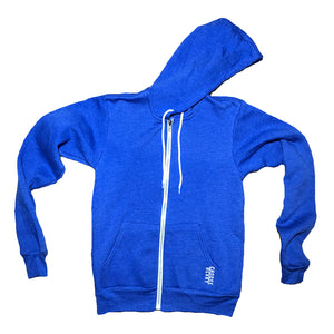 Blue Choose RCVRY ZipUp Hoodie - NEW