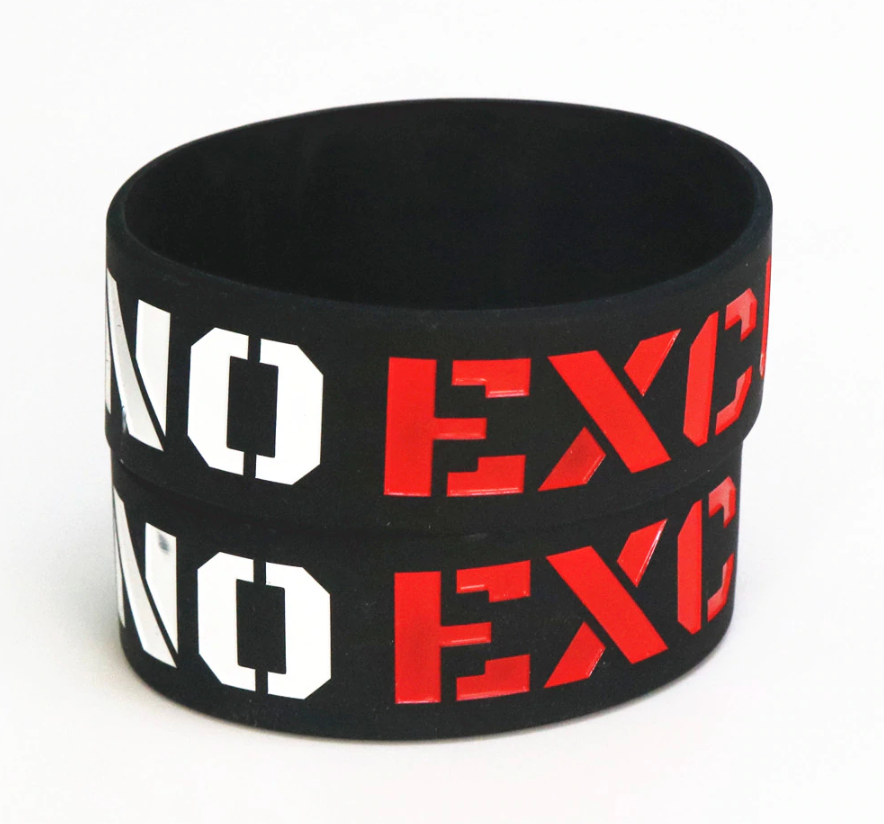 10 No Excuses Wristbands