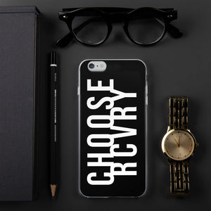 Choose RCVRY iPhone Case - BLACK